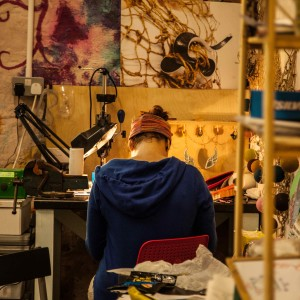 Ele working in studio small